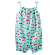Carter's Cherry Smocked Romper - Baby