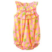 Carter's Dotted Lemon Sunsuit - Baby