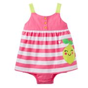 Carter's Striped Lemon Sunsuit - Baby