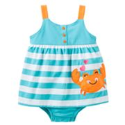 Carter's Striped Crab Sunsuit - Baby