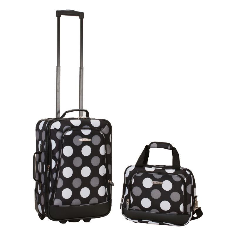 Rockland 2-Piece Luggage Set, Black