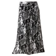 Croft and Barrow Printed Accordion-Pleat Pull-On Skirt
