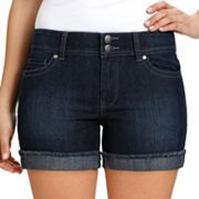 daisy fuentes Cuffed Denim Shorts