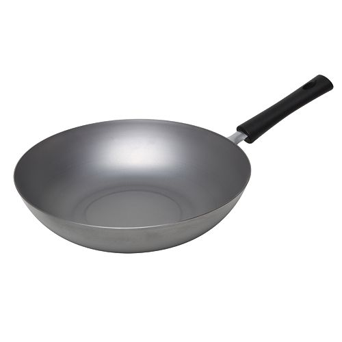 Asian Origins 12 In Carbon Steel Stir Fry Pan