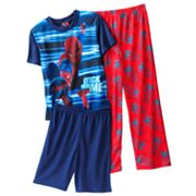 Spider-Man Webstripe 3-pc. Pajama Set - Boys 4-10