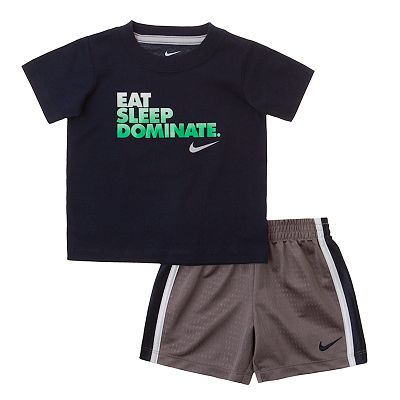 Nike Eat, Sleep, Dominate Tee and Shorts Set - Baby