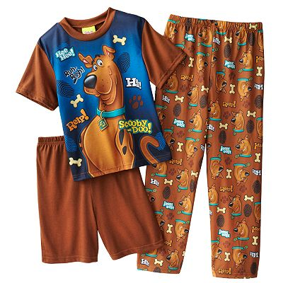 Scooby-Doo 3-pc. Pajama Set - Boys 4-10