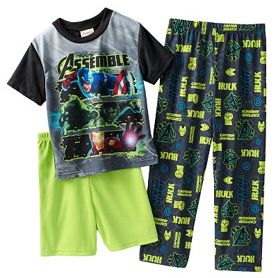 Marvel The Avengers Neon Warriors 3-pc. Pajama Set - Boys 4-10