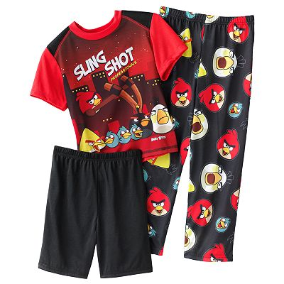 Angry Birds Stand Back 3-pc. Pajama Set - Boys 4-10