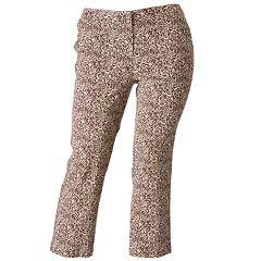 Cathy Daniels Tiger Linen Ankle Pants