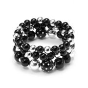 Croft and Barrow Polka-Dot Beaded Stretch Bracelet Set