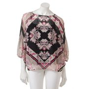 Dana Buchman Medallion Chiffon Poncho Top Set