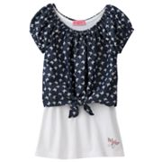 HeartSoul Butterfly Crop Top and Tank Set - Girls 7-16
