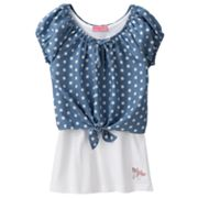 HeartSoul Polka-Dot Crop Top and Tank Set - Girls 7-16