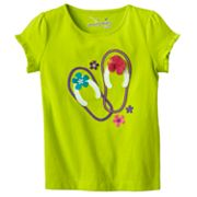 Jumping Beans Flip-Flop Ruffled Tee - Toddler