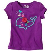 Jumping Beans Whale Ruffled Tee - Toddler