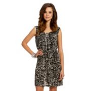 daisy fuentes Splatter Shirred Dress