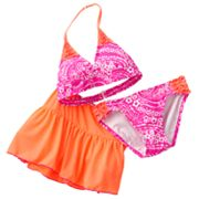 Malibu Dream Girl Paisley 3-pc. Bikini Swimsuit Set - Girls 7-16