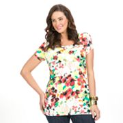 daisy fuentes Favorite Printed Tee - Women's Plus