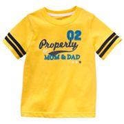 Jumping Beans Property of Mom and Dad Tee - Baby