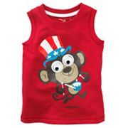 Jumping Beans Patriotic Monkey Googly Eye Tank - Baby