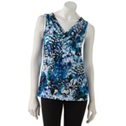 212 Collection Splatter Surplice Top