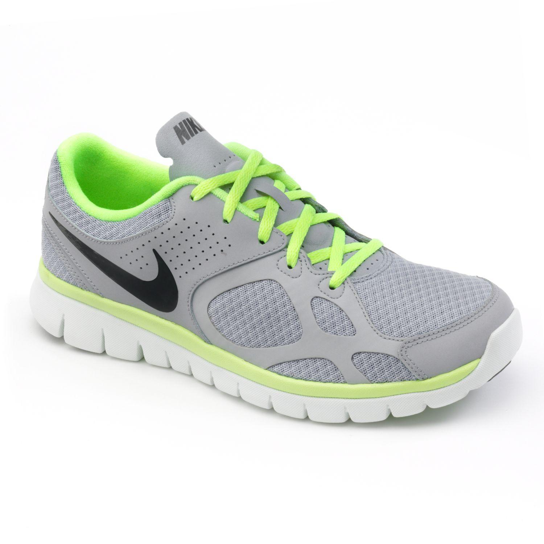 Nike Grey Flex High-Performance Running Shoes - Men