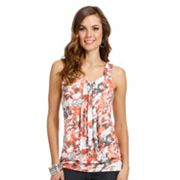 daisy fuentes Splatter Banded-Bottom Top