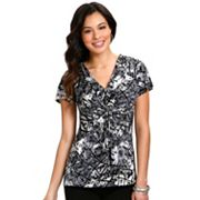 daisy fuentes Geometric Knot-Front Empire Top