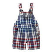 OshKosh B'gosh Plaid Poplin Shortalls - Baby