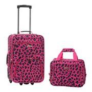 Rockland Print 2 pc Luggage Set