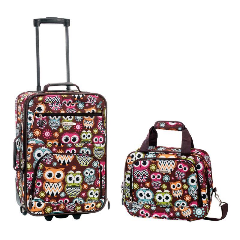Rockland Print 2-Piece Luggage Set, Multicolor