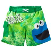 Sesame Street Cookie Monster Swim Shorts - Baby