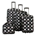 Rockland Print 4-Piece Luggage Set
