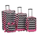 Rockland Print 4 pc Luggage Set