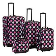 Rockland Print 4 pc Luggage Set