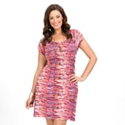 daisy fuentes Printed Empire Dress - Women's Plus
