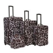 Rockland 4-Piece Print Luggage Set