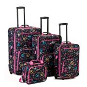 Rockland 4 pc Print Luggage Set
