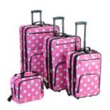Rockland 4 pc Print Luggage Set