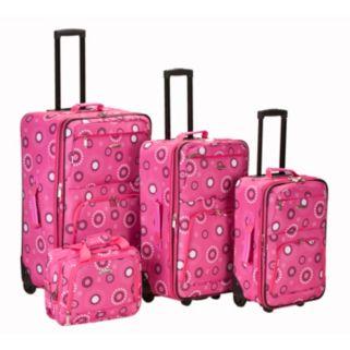 Rockland 4-Piece Print Luggage Set