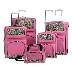 Rockland Leopard 5-Piece Luggage Set