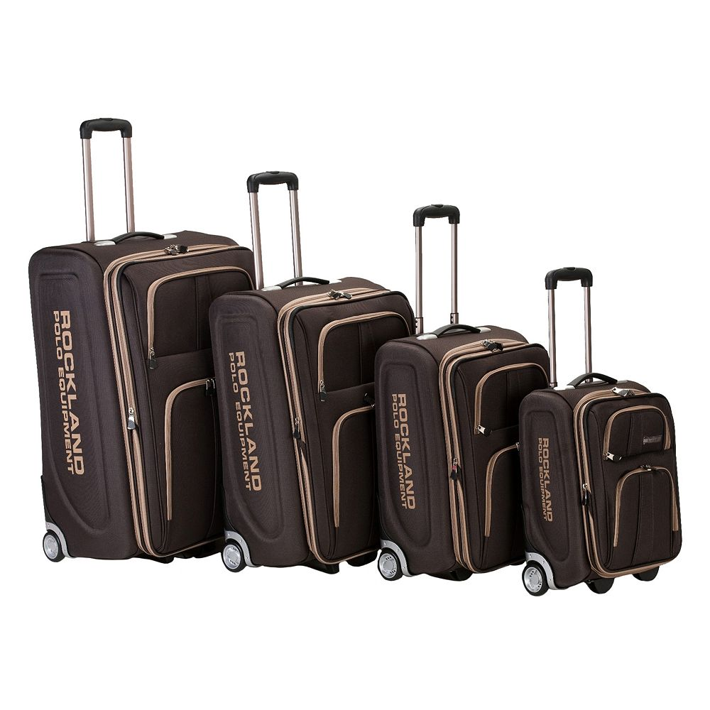 Rockland Polo Equipment 4-Piece Wheeled Luggage Set