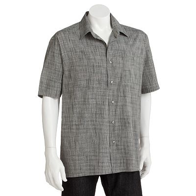 Van Heusen Plaid Melange Casual Button-Down Shirt