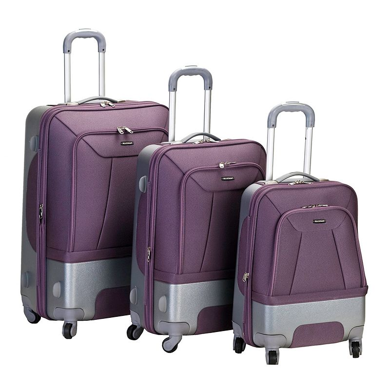 Rockland 3-Piece Spinner Luggage Set, Purple