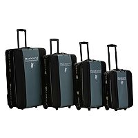 Rockland Polo Equipment 4 pc Wheeled Luggage Set
