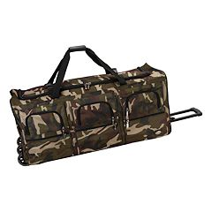 Rockland Camouflage Rolling Duffel Bag