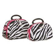 Rockland Luca Vergani Zebra 2-pc. Cosmetic Bag Set