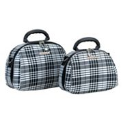 Rockland Luca Vergani Plaid 2-pc. Cosmetic Bag Set
