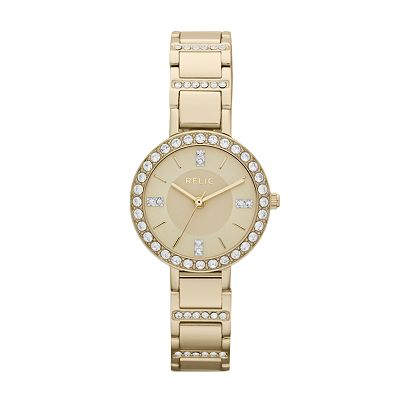 Relic Kerri Gold Tone Stainless Steel Crystal Watch - ZR34216 - Women